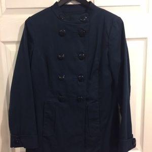 Banana Republic Navy Blue Double Breasted Coat